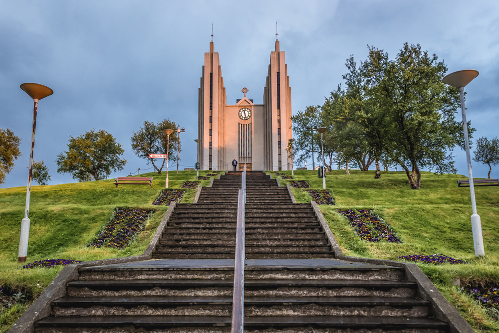 Akureyri church on the Iceland Ring Road