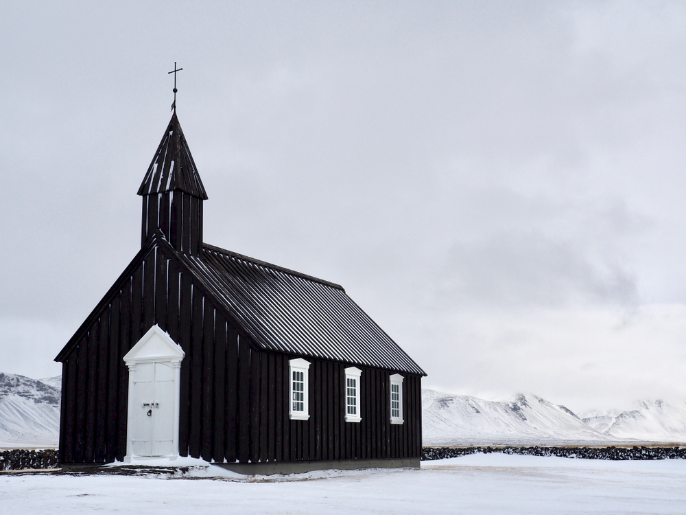 the Budir black church on the Iceland Ring Road