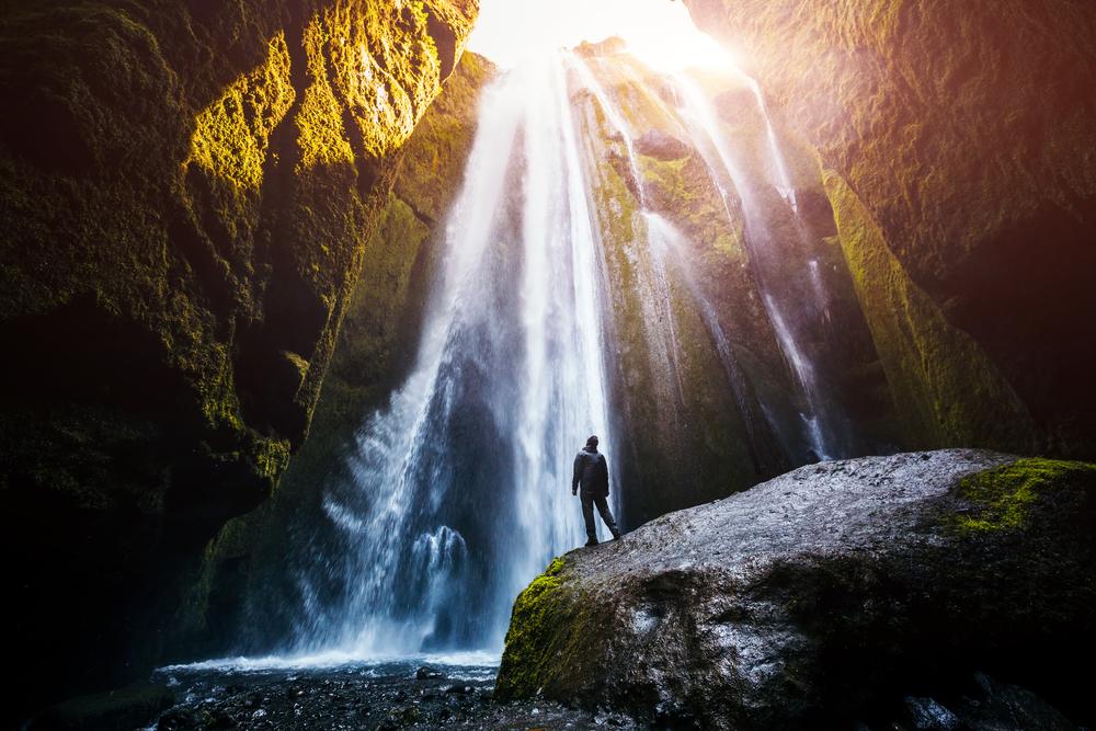 Gljufrabui waterfall on the Iceland Ring Road