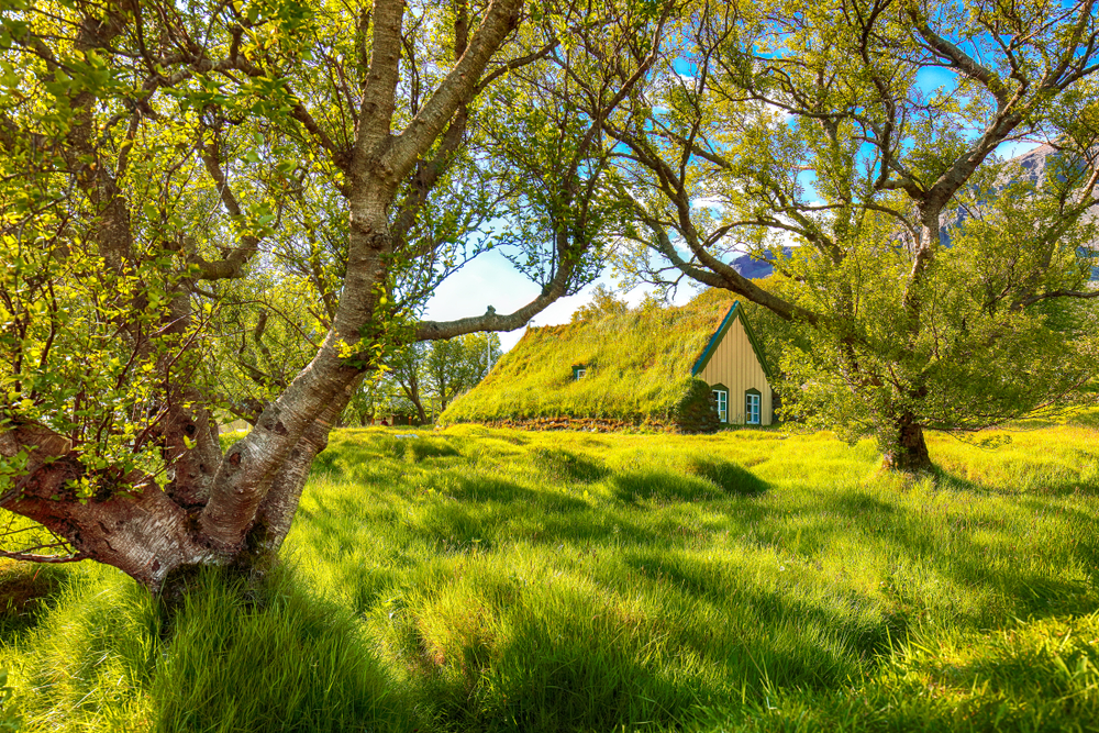 the Hofskirkja church on the Iceland Ring Road