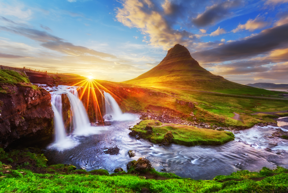 Kirkjufell mountain on the Iceland Ring Road
