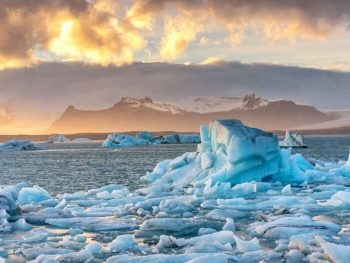 Glacier lagoon in south iceland
