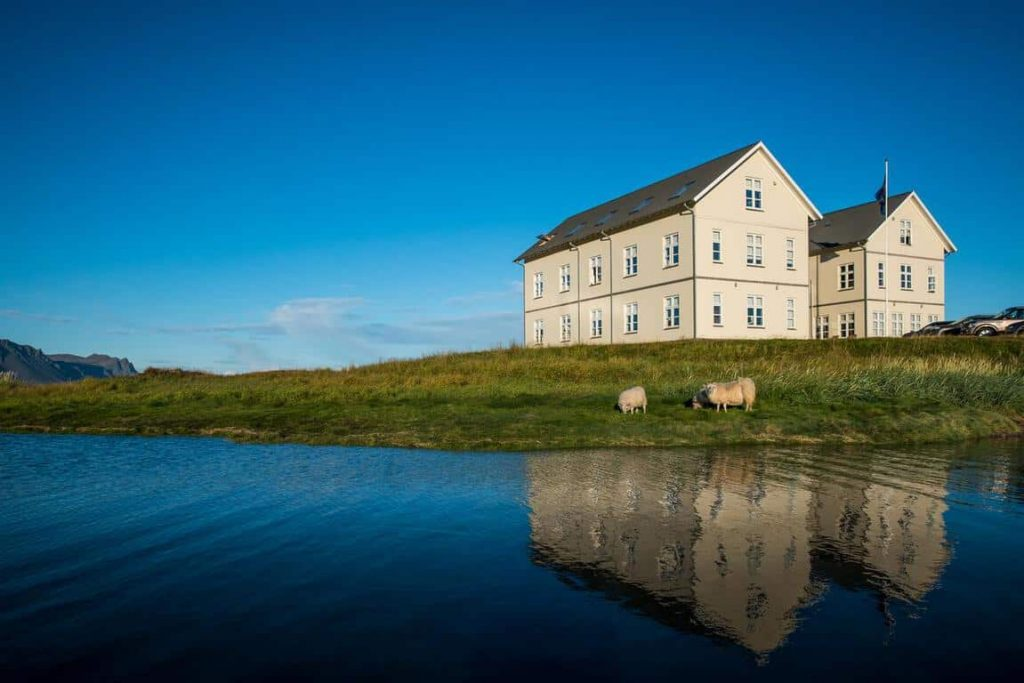 Hotel Budir is where to stay in Iceland on the Snaefellsness Peninsula