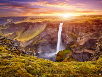 Haifoss waterfall in Iceland as part of your 4 days in Iceland itinerary