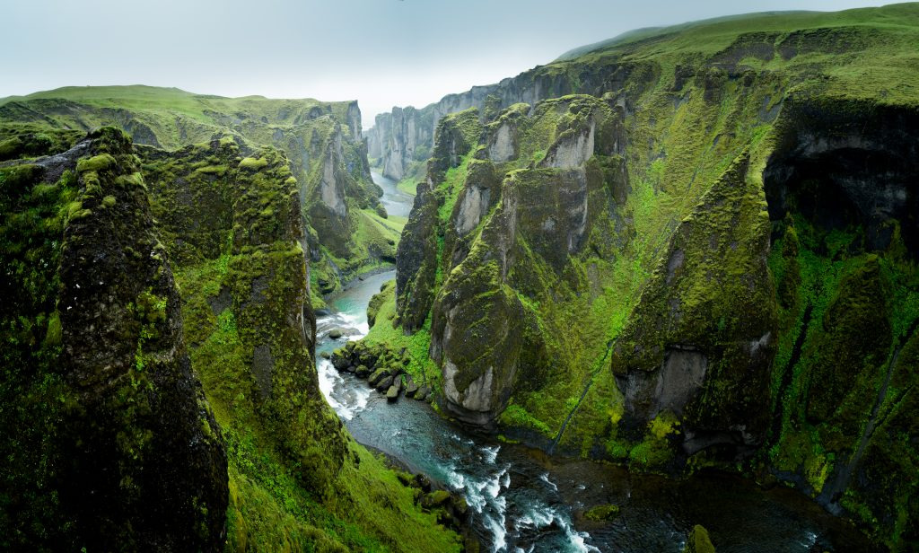 Photo of Fjaðrárgljúfur Canyon which is an epic canyon located in South Iceland.