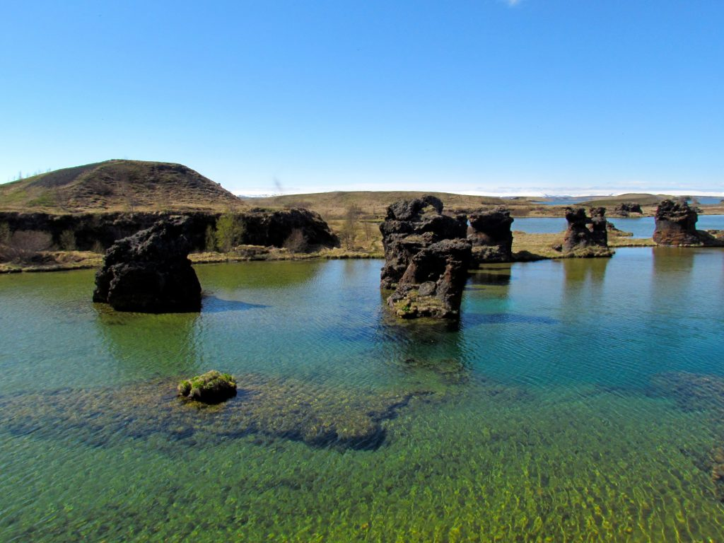 Photo of lava rock formations on the small peninsula of Höfði in Iceland. One of the Game of Thrones Iceland filming locations.