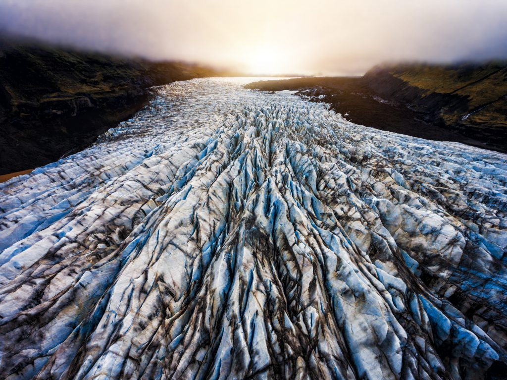Photo of Svinafellsjokull which is an outlet glacier in Iceland. One of the Game of Thrones Iceland shooting locations.