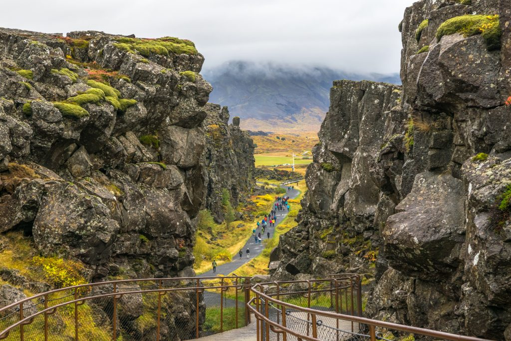 Photo of Thingvellir National Park which  is a gorgeous nature park located in Bláskógabyggð in southwestern Iceland.