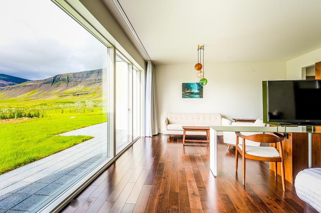 Photo of guest room at Fosshotel Vatnajokull which is located in Iceland and is one of the best Hofn Hotels.