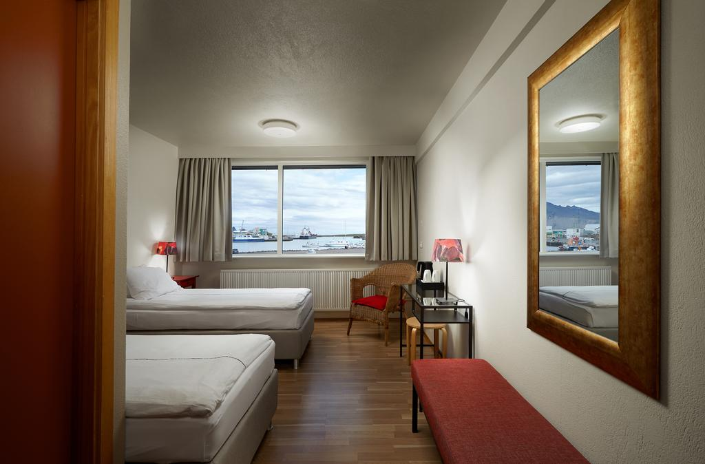 Photo of guest room at Hotel Edda Hofn located in Iceland.