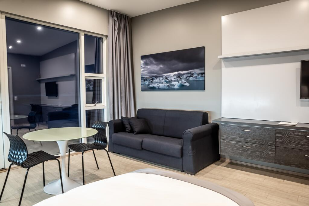Photo of an apartment suite at Black Beach Suites located in Vik Iceland. One of the most beautiful luxury hotels in Iceland.
