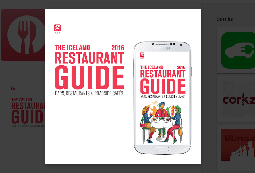 This is one of the best Iceland Apps for restaurant information