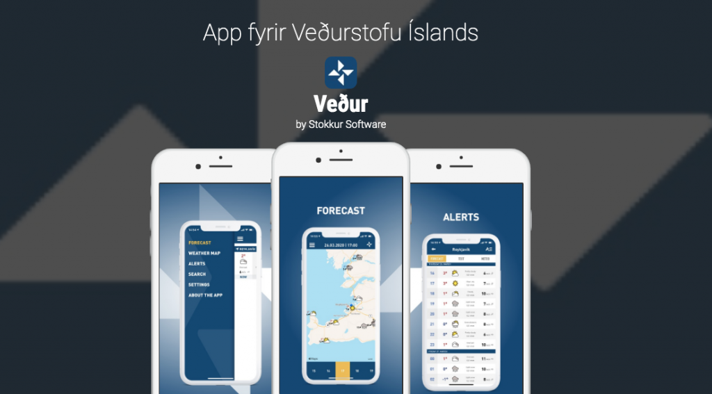 Vedur is a great app for weather in Iceland
