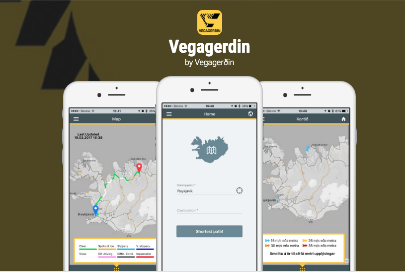 Vegagerdin is the best app for road conditions in Iceland