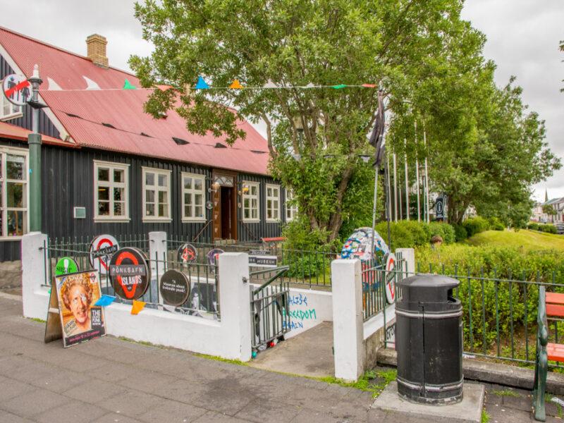 The Punk Rock Museum in Reykjavik located inside an old public latrine.