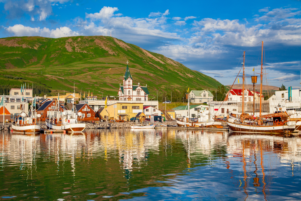 Husavik is a great option when traveling to towns in Iceland