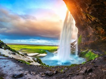 best time to visit iceland waterfall