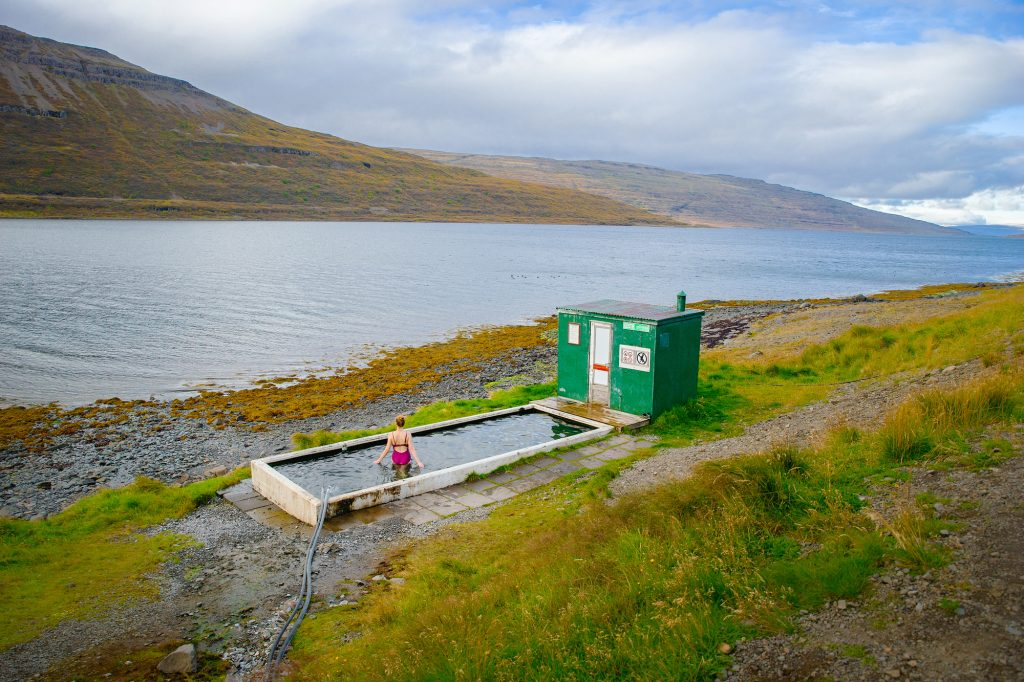 best time to visit Iceland for swimming in hot springs in Westfjords