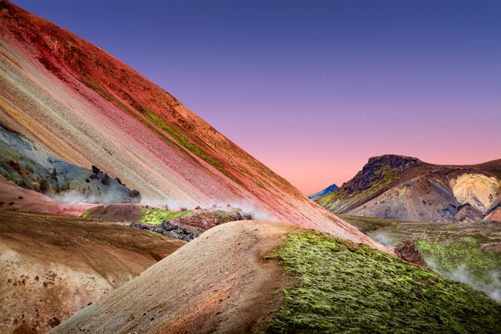 The colorful mountains on Brennisteinsalda mountain