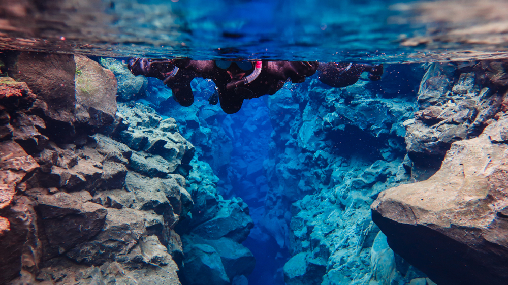 silfra fissure snorkeling is one of the best tours in iceland