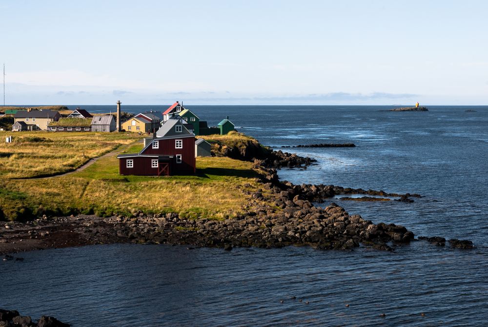 photo of the coastal icelandic houses in Breidafjordur national park