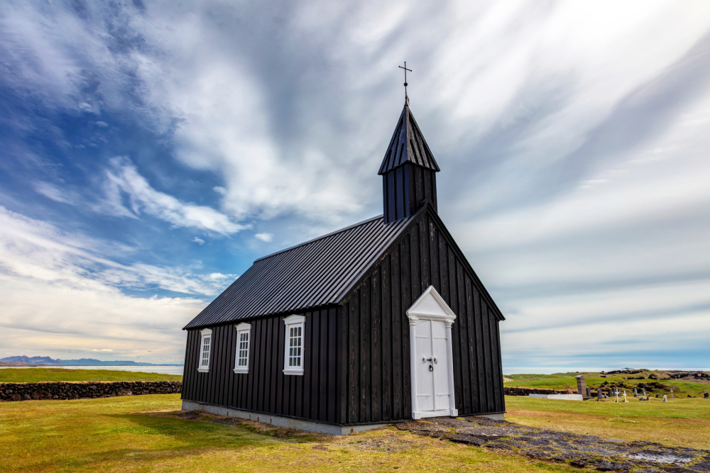 this Budir black church is one of the best churches in Iceland