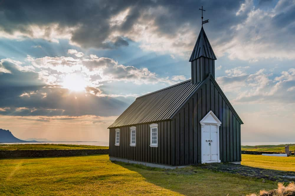 Búdakirkja Church is one of the famous Black churches in Iceland