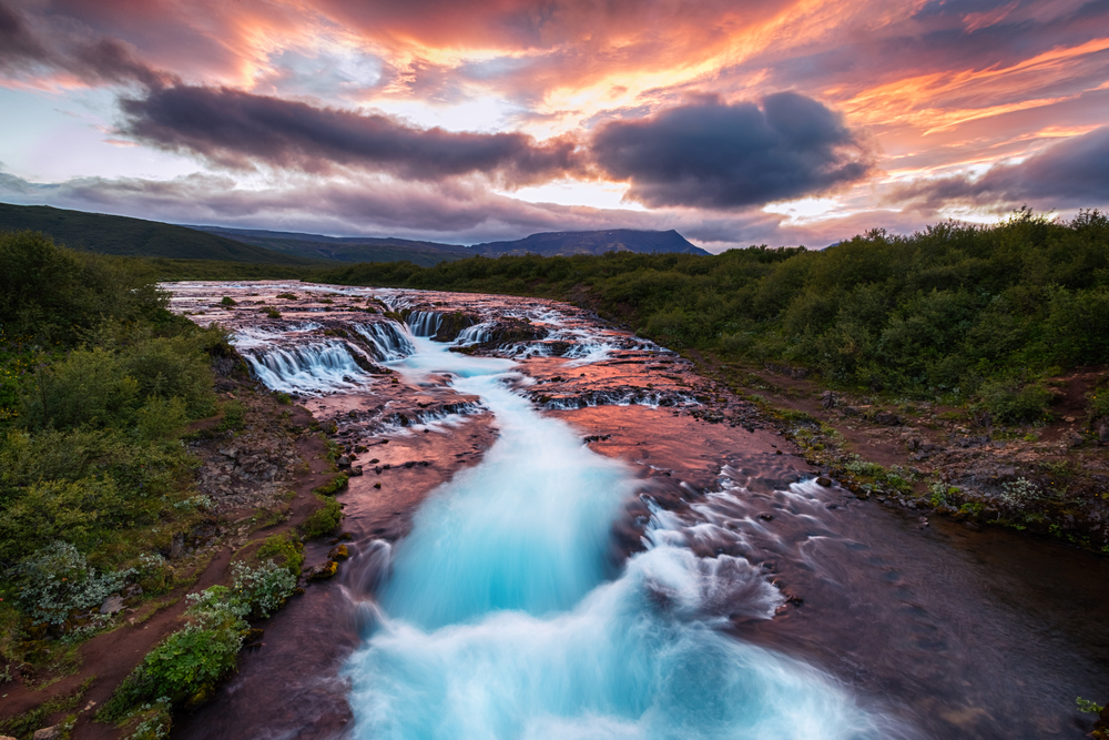bruarfoss is one of the best things to do in iceland