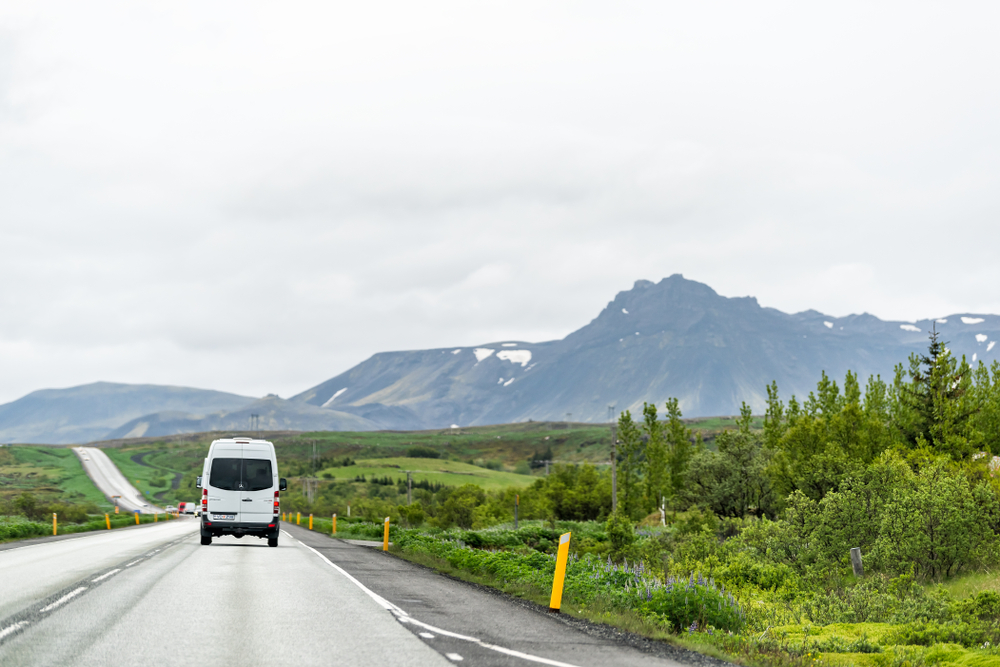 driving around the Golden Circle Iceland