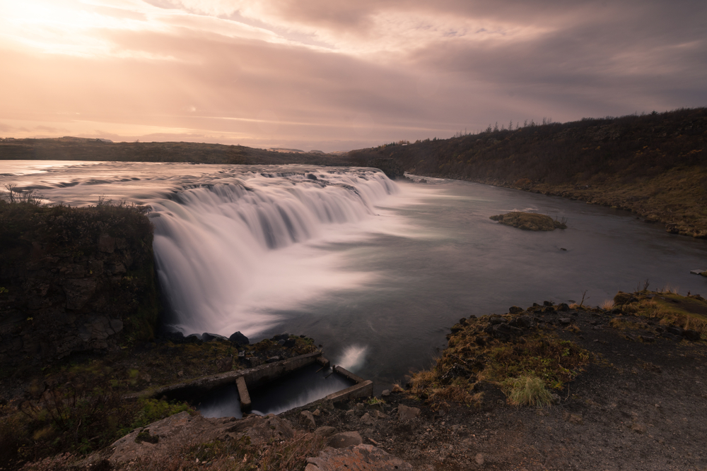 Faxafoss waterfall along the Golden Circle Iceland