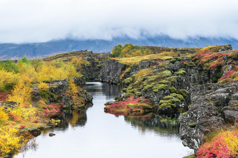 Thingvellir National Park along the Golden Circle Iceland