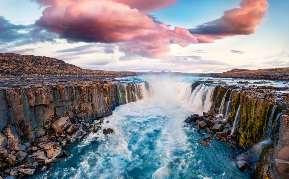 Selfoss one of Iceland waterfalls
