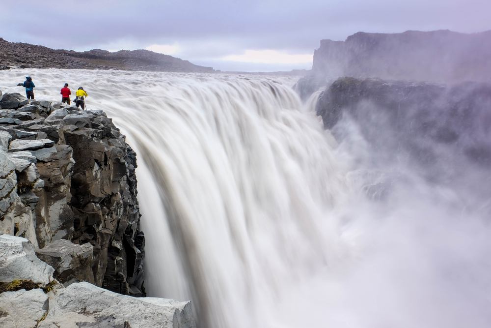 Powerful dettifos waterfall North Iceland