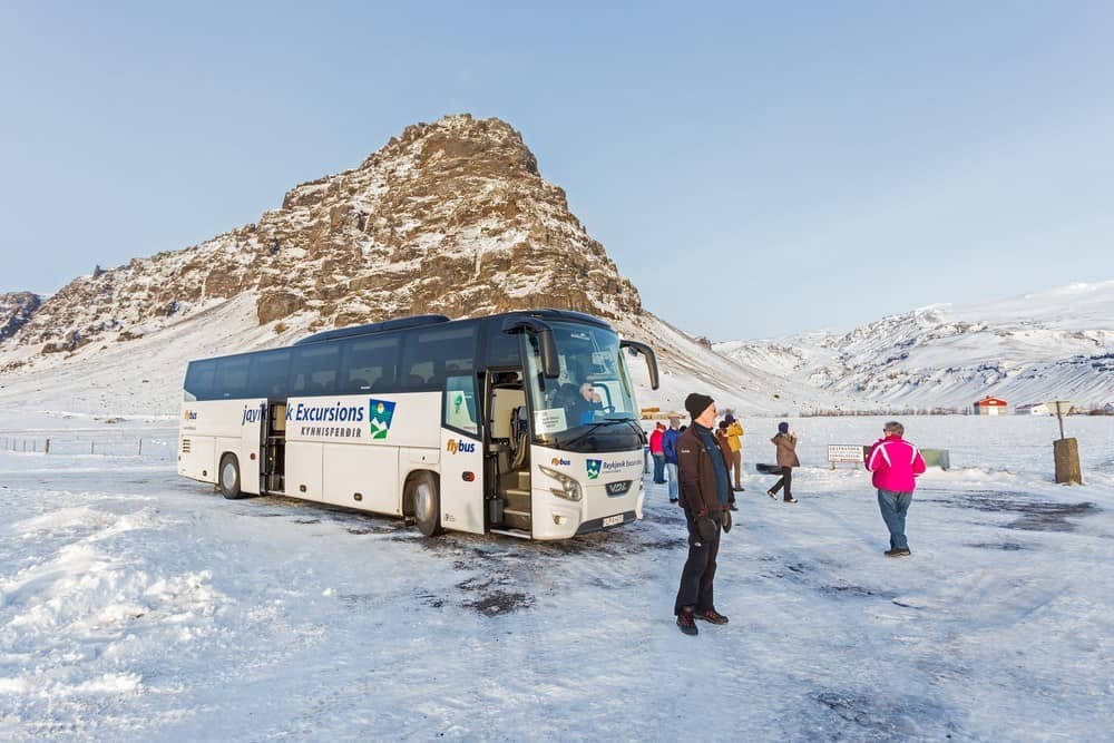 prices in Iceland for tour group on tour bus