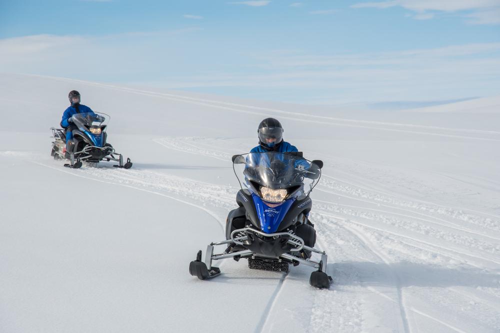 snowmobile at Vatnajokull Glacier