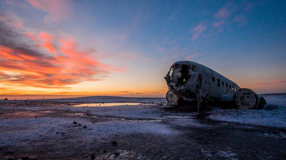 The famous plane wreck at Solheimasandur Beach in Iceland