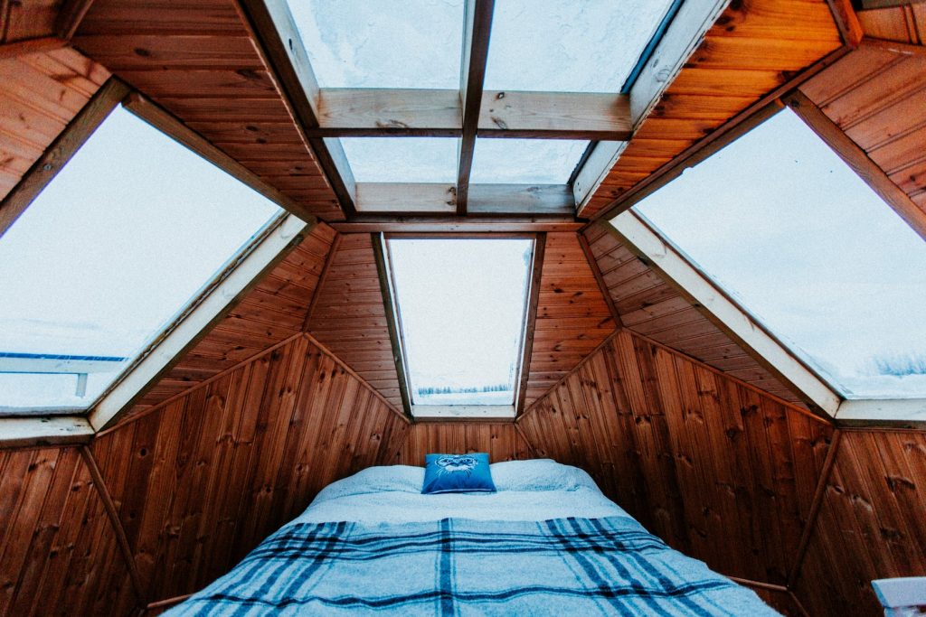360 degree view igloo house airbnb in iceland