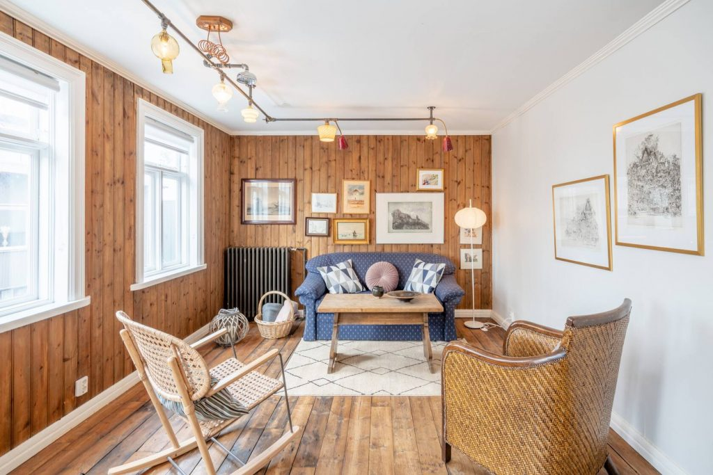 renovated wood airbnb in iceland downtown