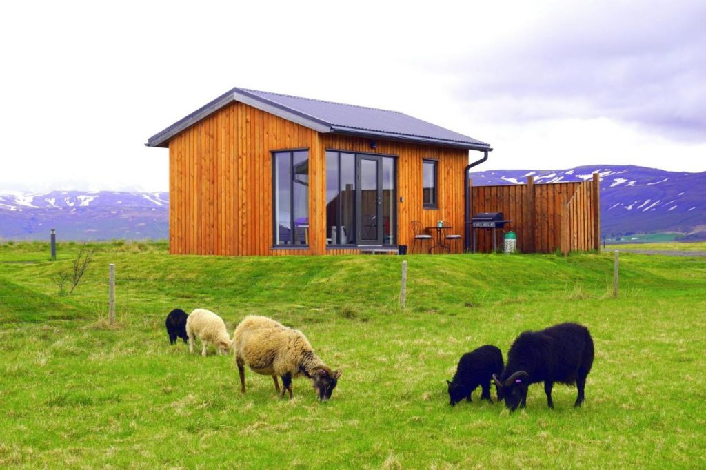 Austurey Cottages is a scenic place to stay in Iceland.