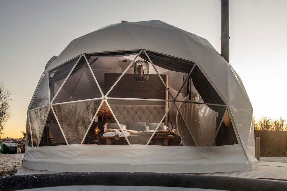 glamping in iceland at the reykjavik domes