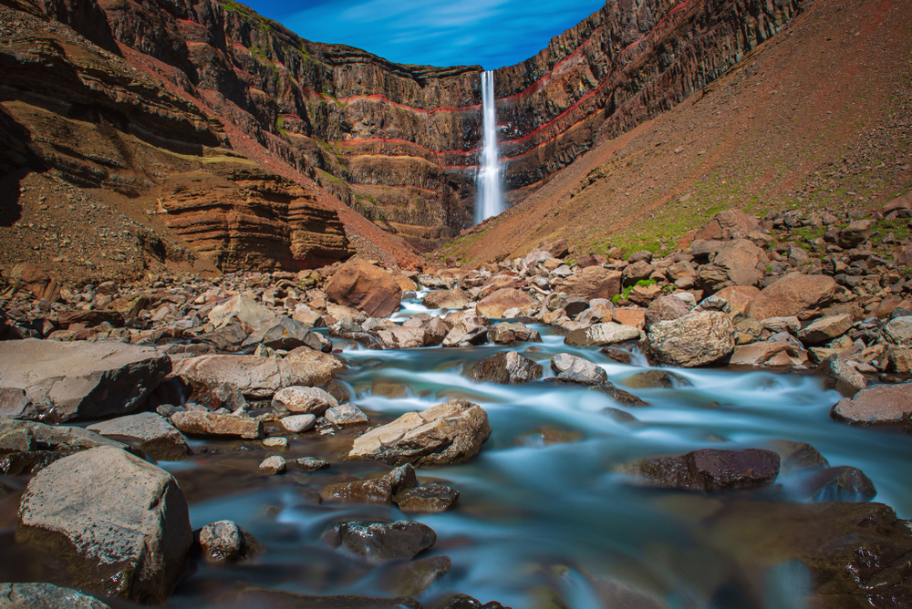 Hengifoss is one of the tallest waterfalls in Iceland.