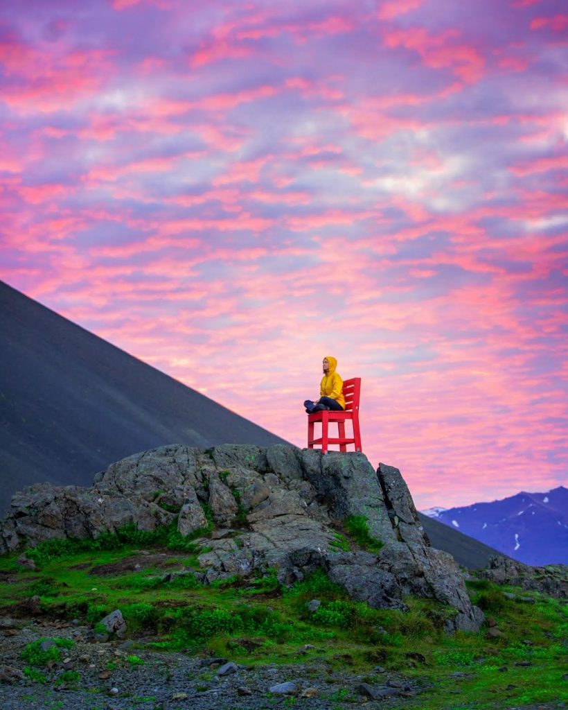 The Red Chair is one of the best east Iceland photo ops!