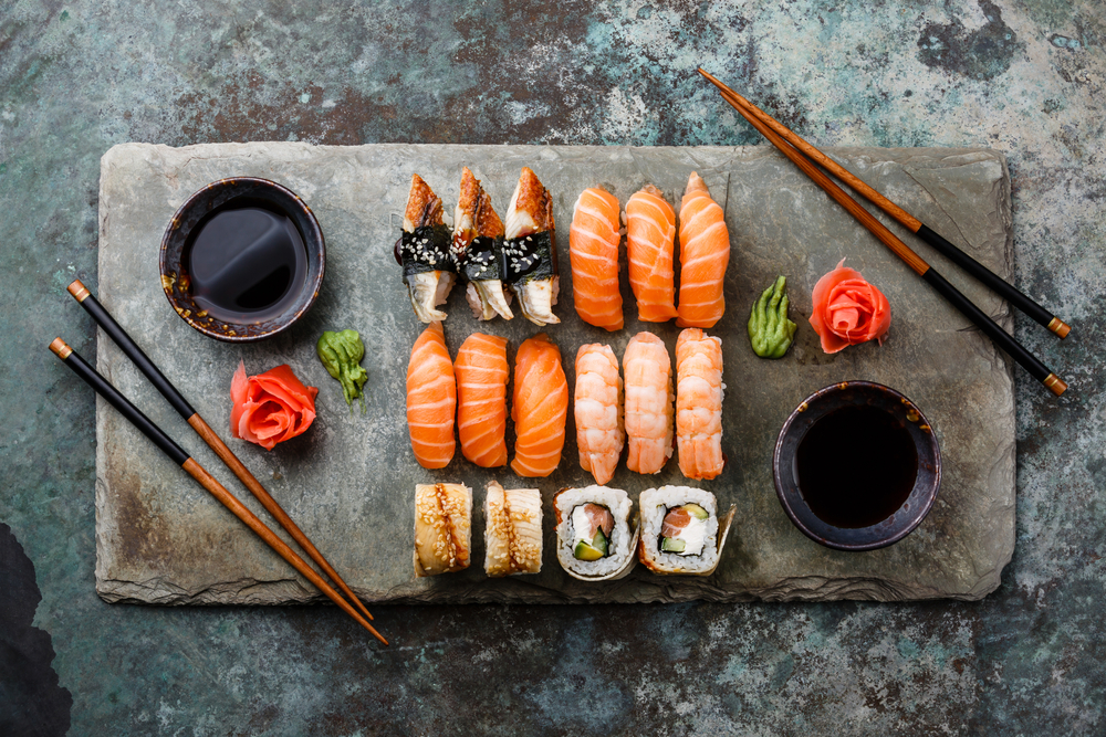 beautifully displayed sushi dishes like you can find at Sushi Social, one of the best restaurants in Reykjavik