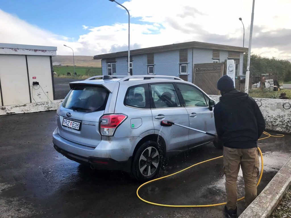 car wash at gas stations in iceland
