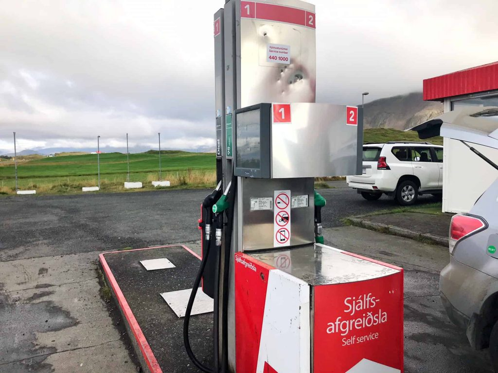 self-serve gas stations in iceland | gas pumps in iceland