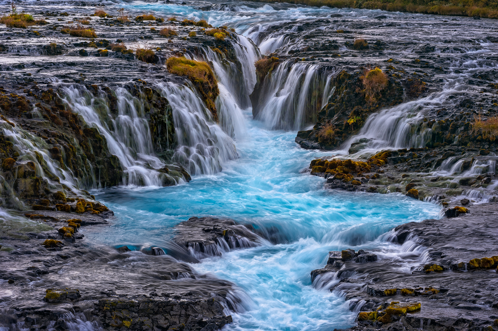 Bruarfoss waterfall, one of Iceland's many freshwater sources