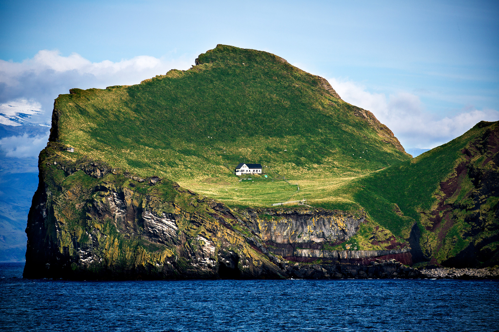 Ellidaey Island is known for being the island in Iceland for being the home of the loneliest house in the world,