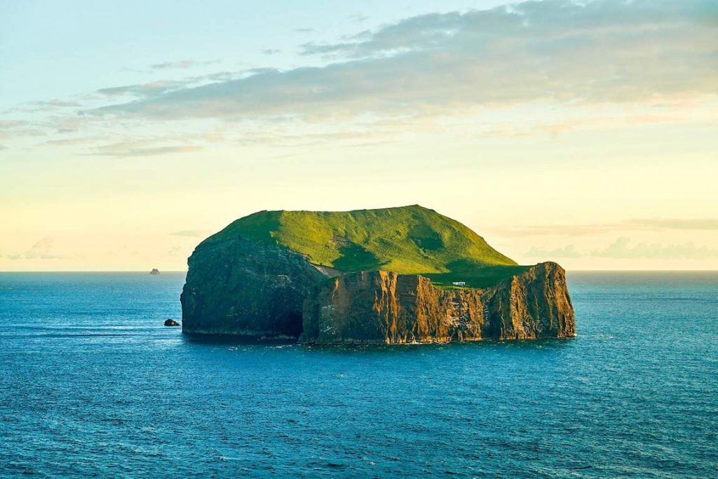 Suðurey Island is located in the Westman Islands just south of Iceland.