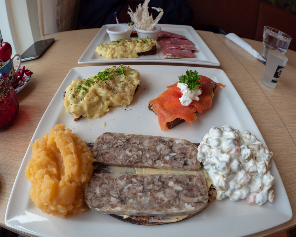 An Icelandic food platter in an article about restaurants in Iceland